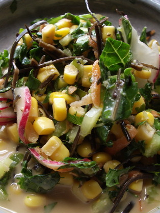 Medium arame summer salad