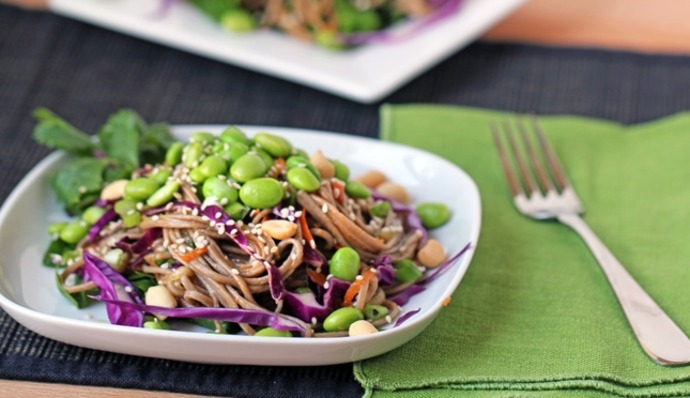 Medium garlic edamame soba noodles cover