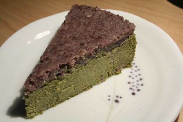 Medium greentea cake with azuki frosting